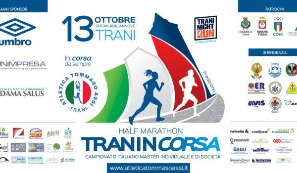 Tommasso Assi Half Marathon, iscrivi all'11esima edizione di Tranincorsa