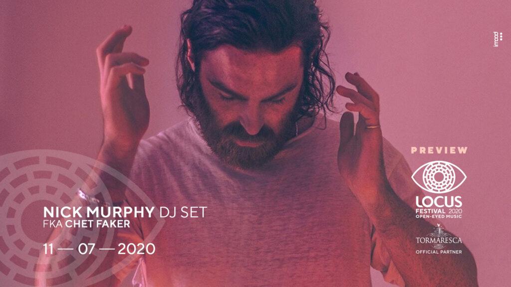 Locus Festival 2020, preview a Nick Murphy (fka Chet Faker) radio punto musica barletta