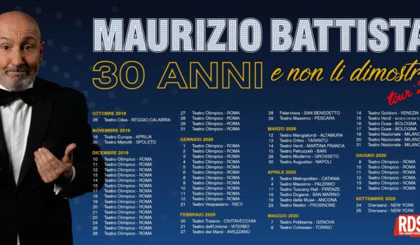 """Maurizio Battista, """"30 anni e non li dimostro"""" non potrà venire in Puglia"""
