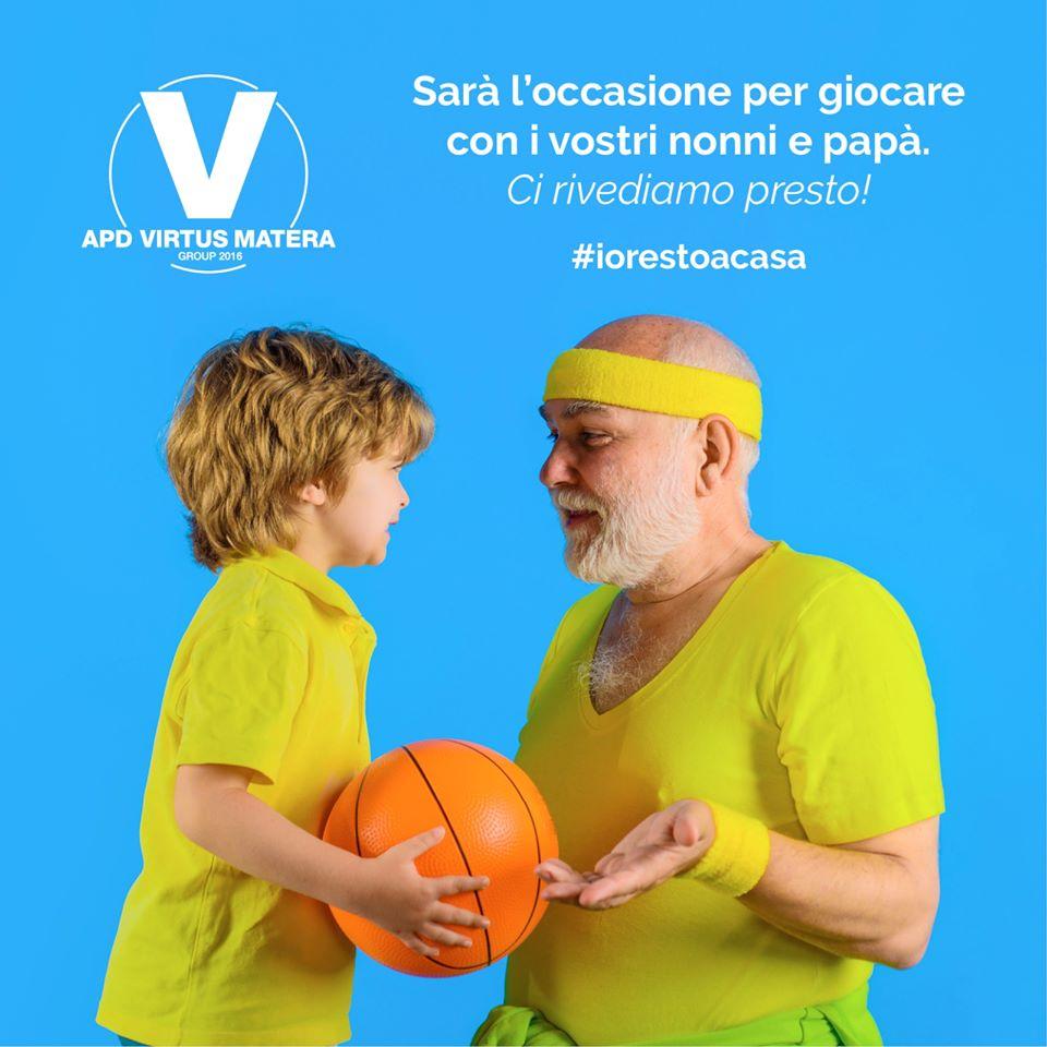 virtus matera messaggio per coronavirus italia
