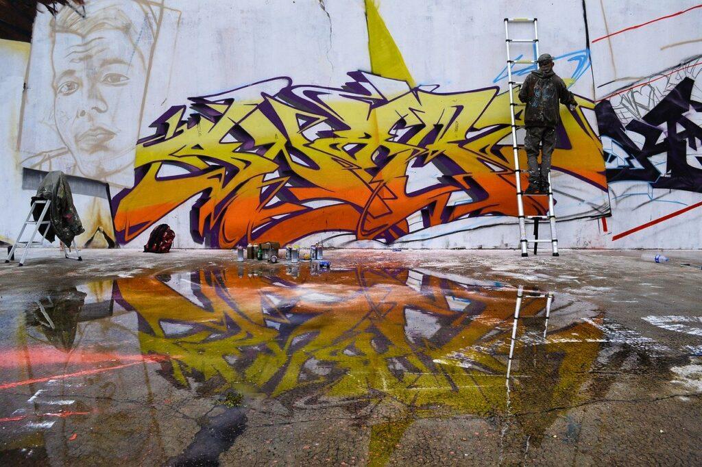 street art in lavorazione