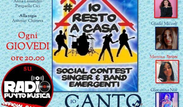 La seconda puntata di IO CANTO #Iorestoacasa