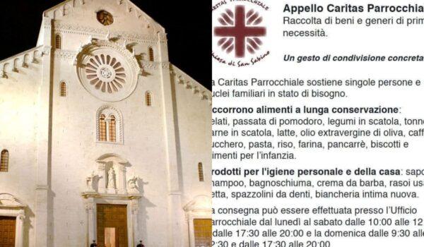 "Bari, parrocchia San Sabino: ""Servono aiuti per bisognosi"""