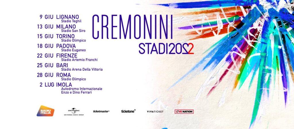 cesare cremonini stadi tour 2022