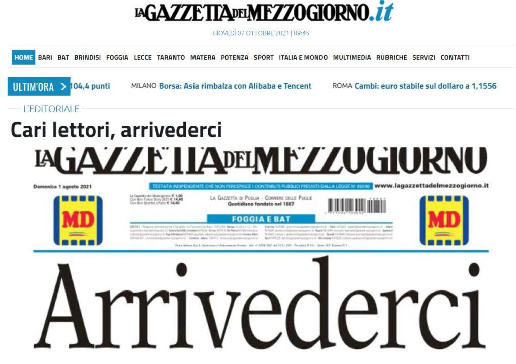 gazzetta del mezzogiorno homepage